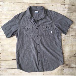 columbia • Gray Short Slv Casual Button Shirt